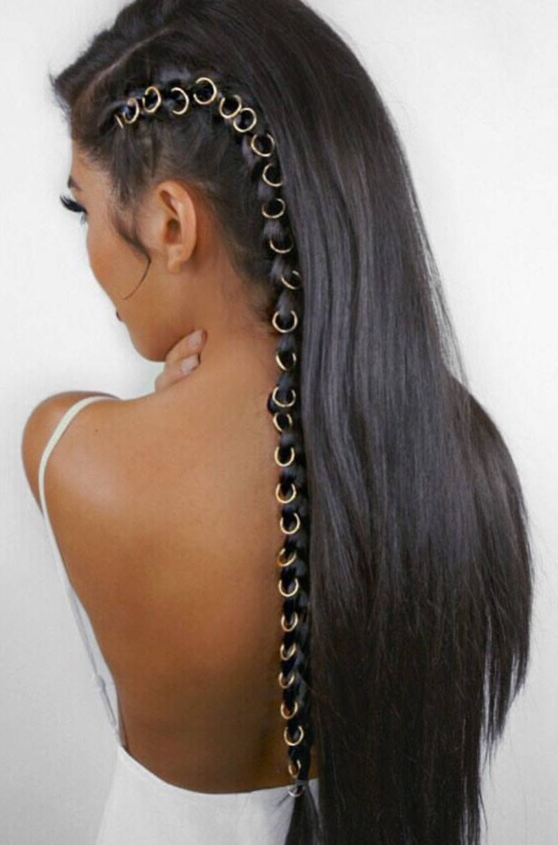 Most Current Hoop Embellished Braids Hairstyles For Beautiful Hair Ring Styles Indian Girls Can Try (View 2 of 20)