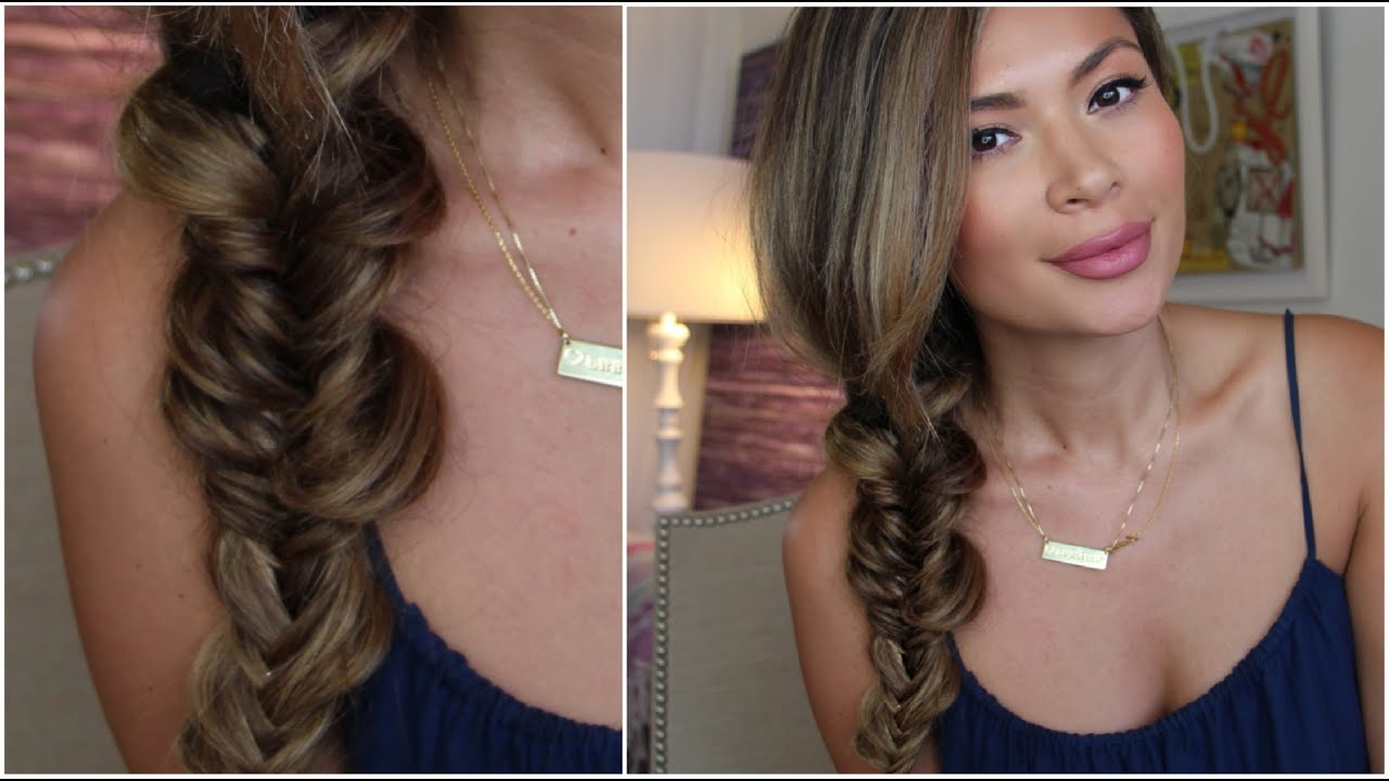 Most Current Messy Side Fishtail Braid Hairstyles Throughout Messy Fishtail Braid Hair Tutorial (View 5 of 20)