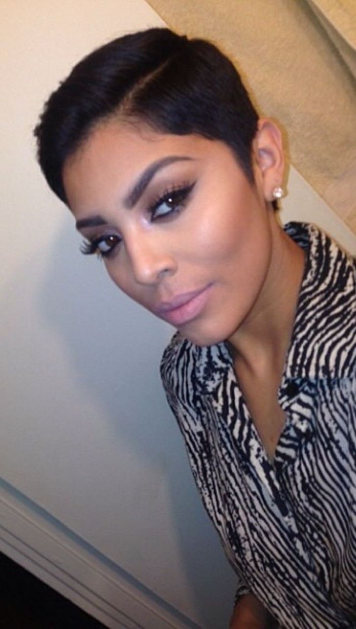 Most Current Perfect Pixie Haircuts For Black Women Throughout Pin On Hair (View 16 of 20)