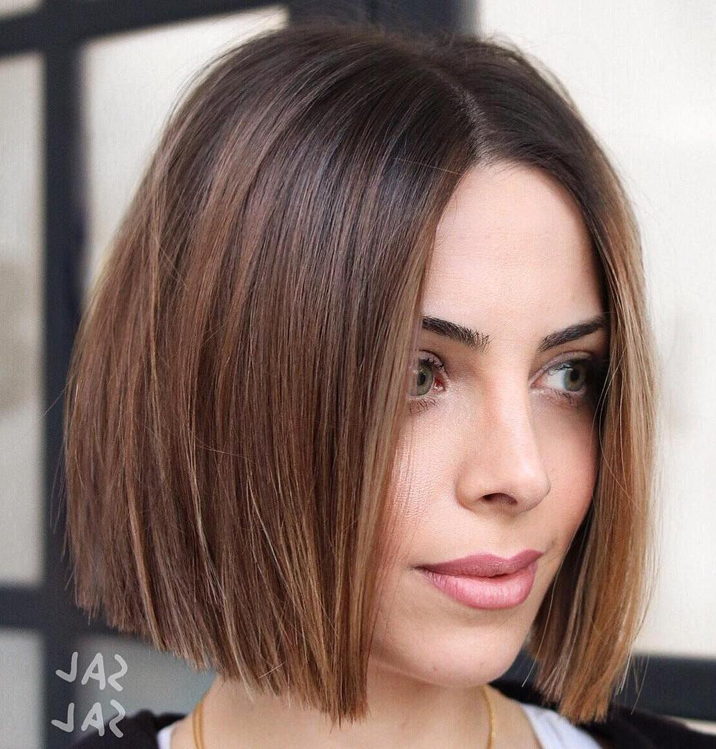 Most Current Shiny Strands Blunt Bob Hairstyles In 35 Cute Short Bob Haircuts Everyone Will Be Obsessed With In (View 9 of 20)