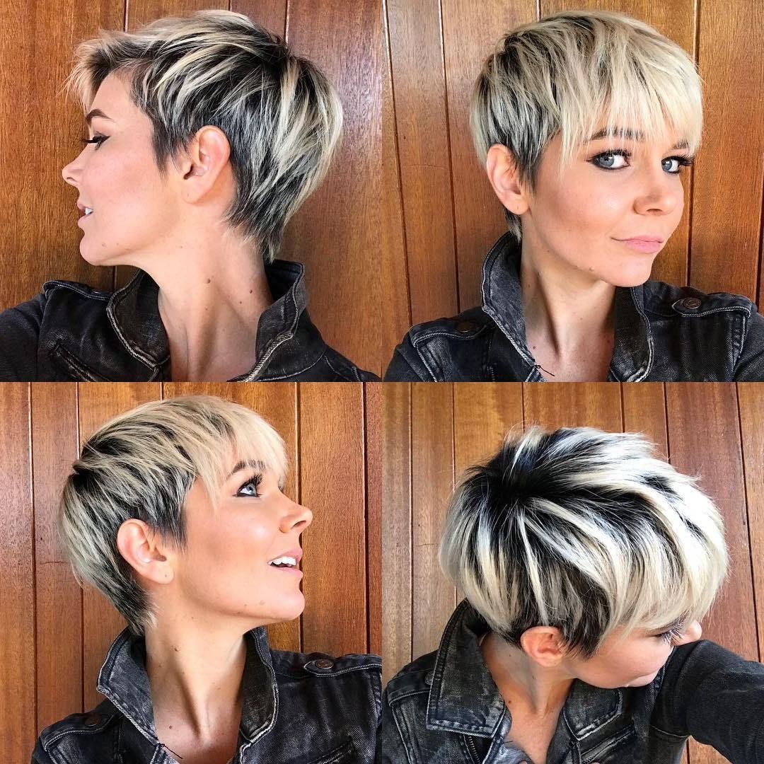Most Current Super Short Shag Pixie Haircuts With Pin On Hair & Fashion (View 9 of 20)