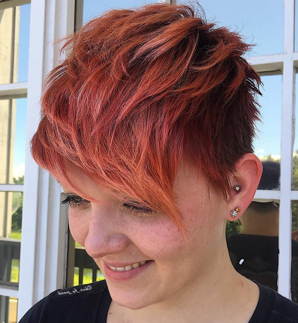 Most Current Wavy Asymmetrical Pixie Haircuts With Pastel Red Inside 50 Hottest Pixie Cut Hairstyles In (View 8 of 20)