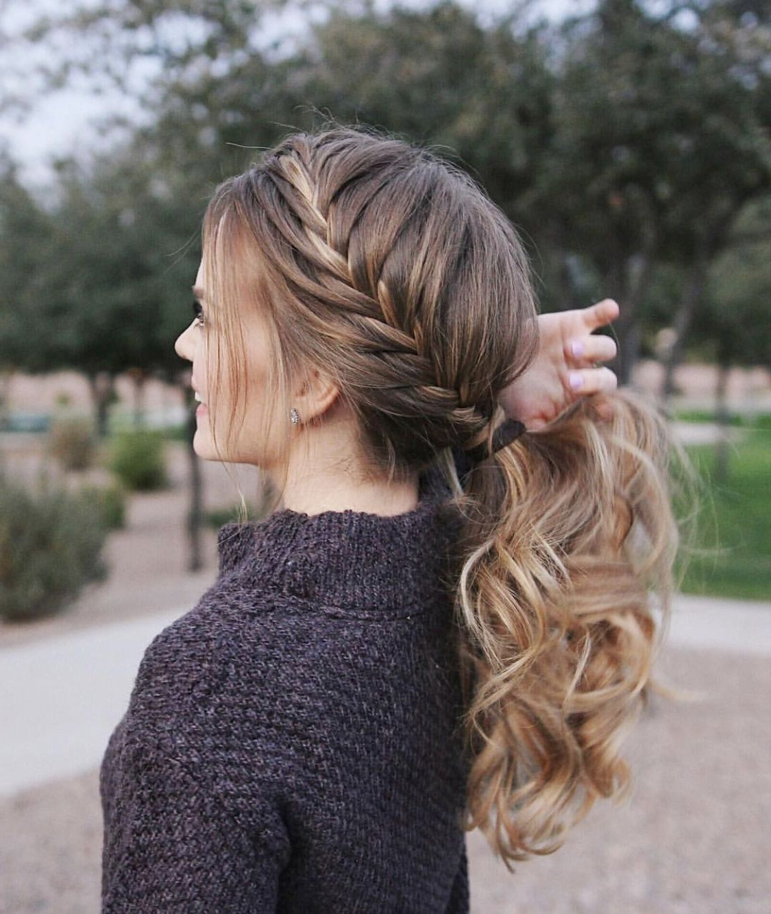 Most Popular Asymmetrical French Braid Hairstyles For Hair@missysueblog (View 14 of 20)