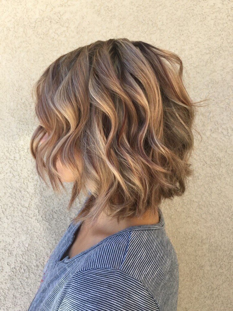 Most Popular Beach Wave Bob Hairstyles With Highlights Intended For Highlights And Lowlights Mahogany Lowlights And Soft Carmel (View 2 of 20)