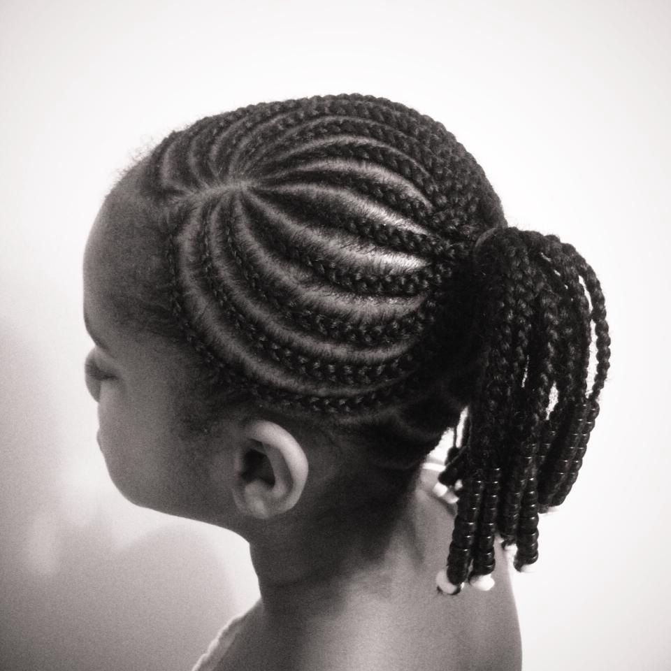 Most Popular Cornrow Accent Braids Hairstyles In Classic Cornrows Braided Into A Ponytail And Accented With (View 12 of 20)
