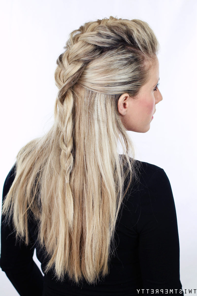 Most Popular Faux Hawk Braid Hairstyles For Half Up Faux Hawk – Twist Me Pretty (View 18 of 20)