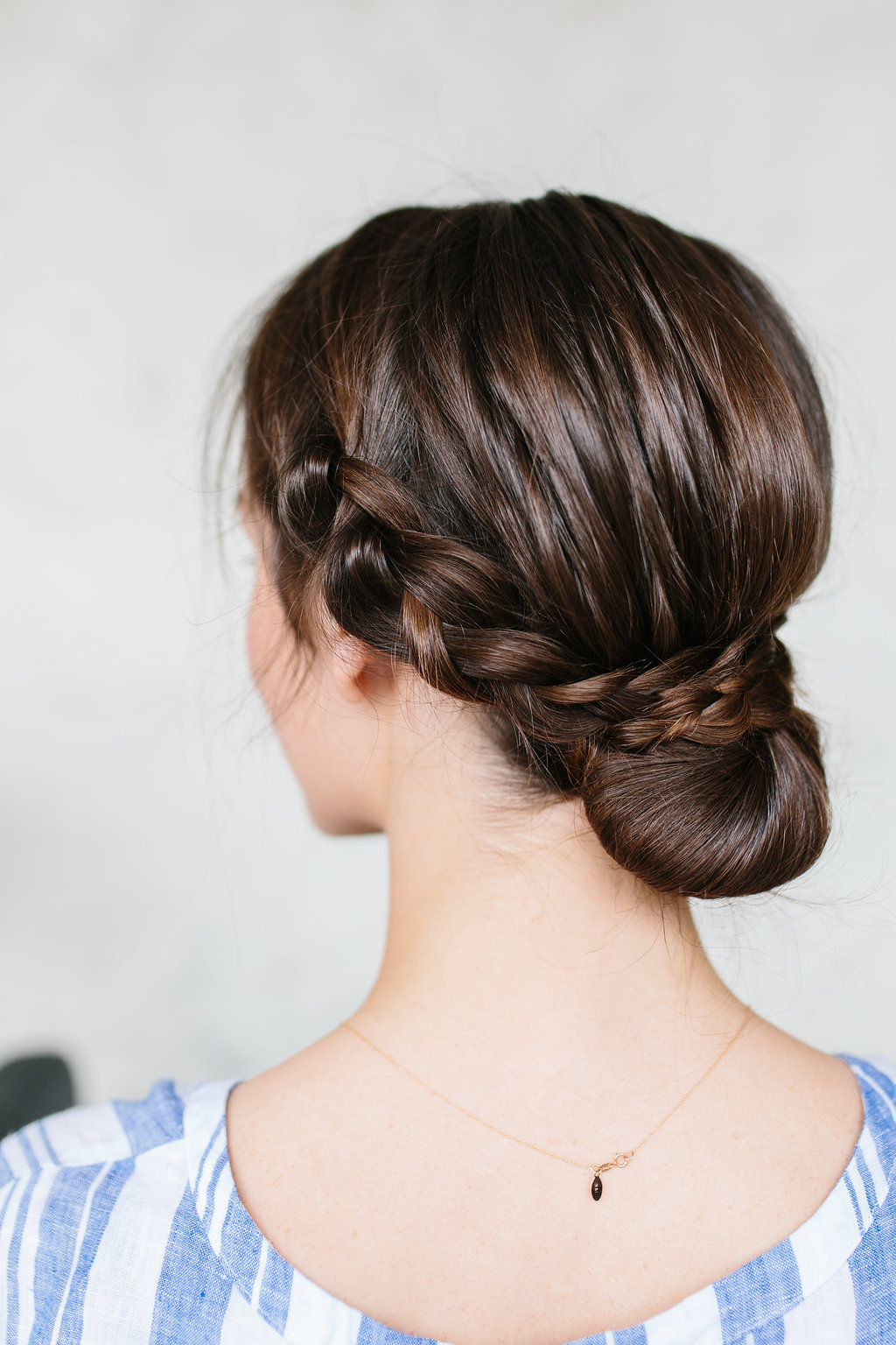 Most Popular Plaited Chignon Braid Hairstyles Pertaining To How To Do A Braided Bun Hair Tutorial – The Effortless Chic (View 12 of 20)