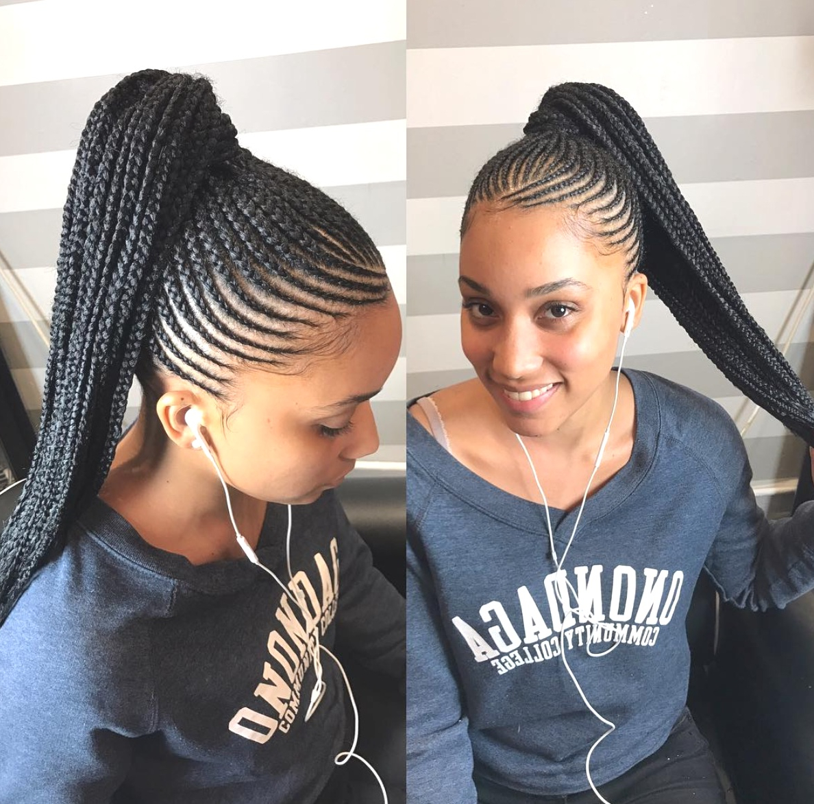 Most Popular Ponytail Braid Hairstyles For Hairstyles : Long Braid Hairstyles Black Hair Extraordinary (View 11 of 20)