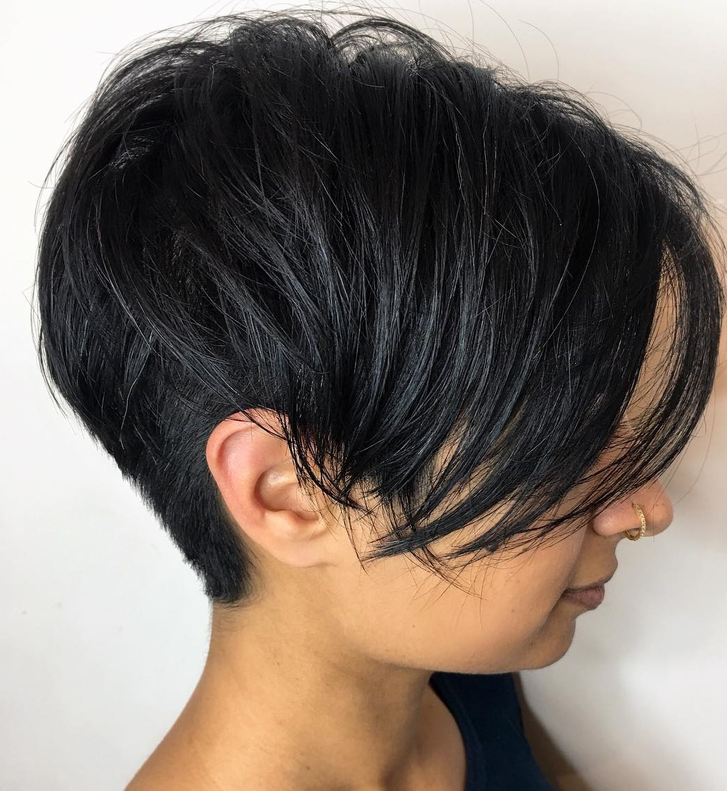 Most Popular Wavy Asymmetrical Pixie Haircuts With Pastel Red Inside 50 Hottest Pixie Cut Hairstyles In (View 12 of 20)