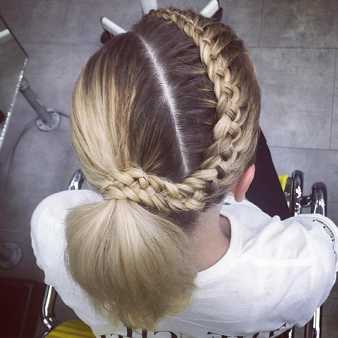 Most Recent Asymmetrical French Braid Hairstyles With Regard To Asymmetrical Ponytail And A Crown Braid (View 15 of 20)