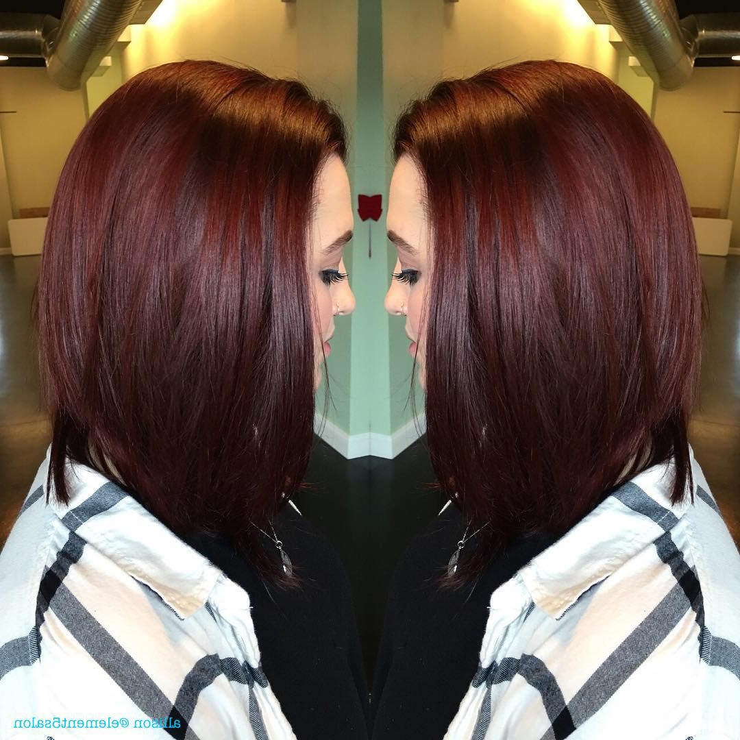 Most Recent Bright Red Bob Hairstyles For Bright Red Violet Long Bob (View 15 of 20)