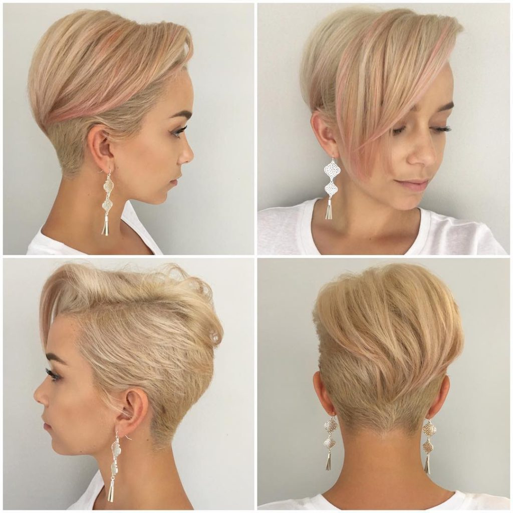 Most Recent Disconnected Pixie Haircuts With An Undercut For Women's Platinum Disconnected Undercut Pixie With Messy (View 15 of 20)
