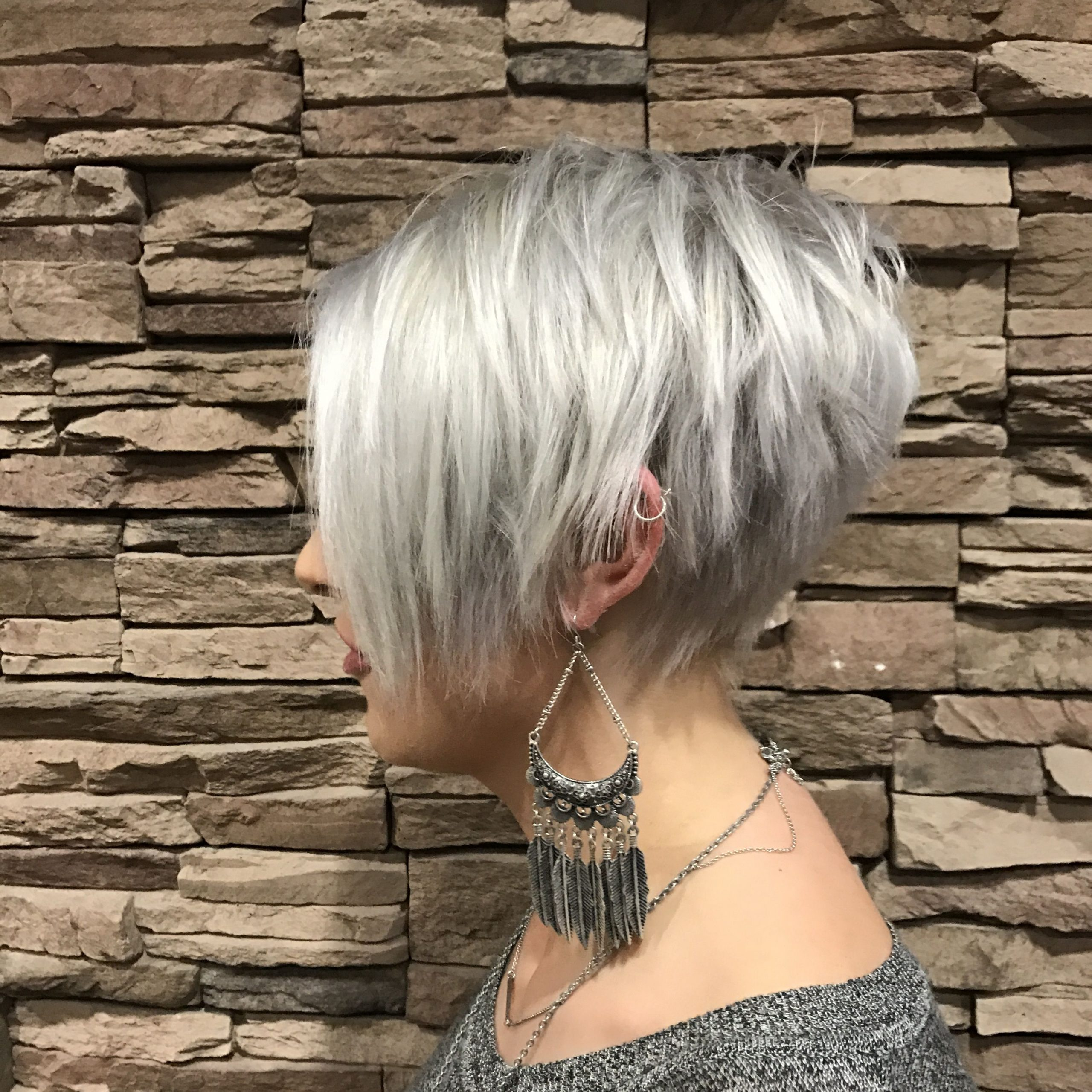 Most Recent Flipped Up Platinum Blonde Pixie Haircuts Within Pin On Pixie (View 8 of 20)
