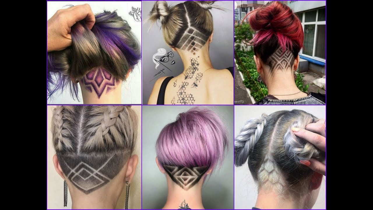 Most Recent Shaved Undercuts Intended For Top 35 Best Nape Undercut Design Ideas 2018 – Nape Shave Haircut For Women (View 11 of 20)