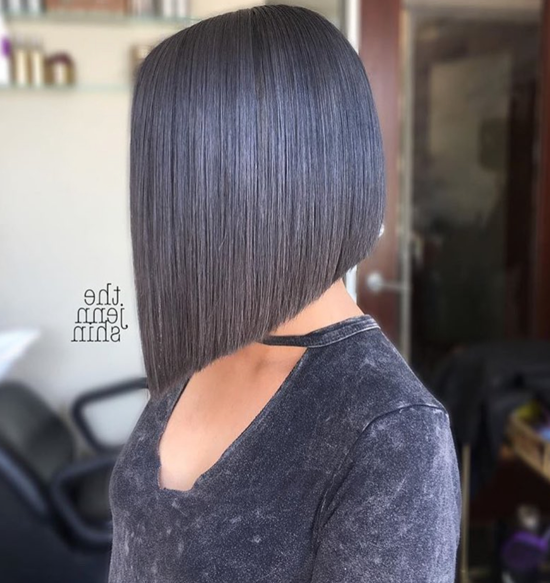 Most Recent Sleek Blunt Bob Hairstyles With Pin On Short Hair Don't Care (View 14 of 20)