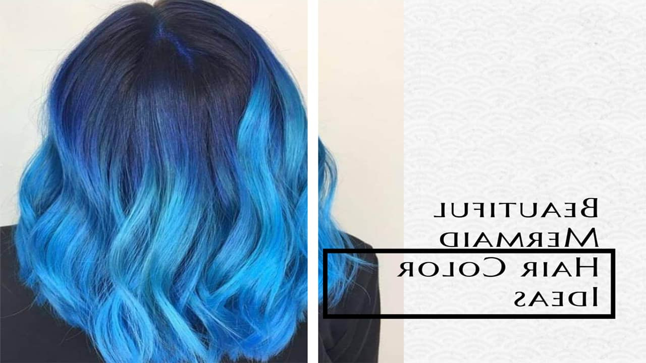 Most Recently Released Aqua Green Undercut Hairstyles Regarding 55 Beautiful Mermaid Hair Color Ideas You Cannot Miss (View 18 of 20)