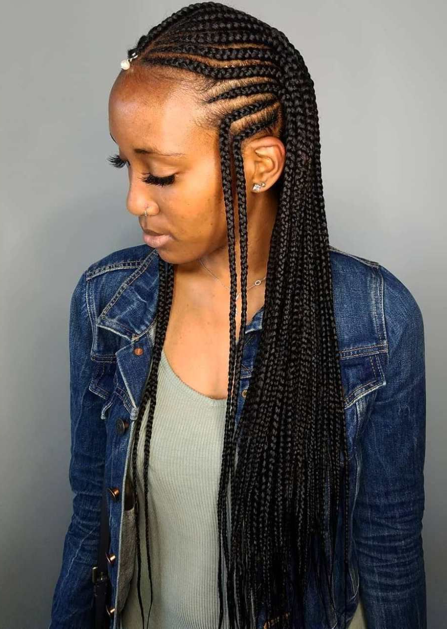 Most Recently Released Center Part Braid Hairstyles Throughout 20 Amazing Fulani Braids For Women Of All Ages (View 19 of 20)