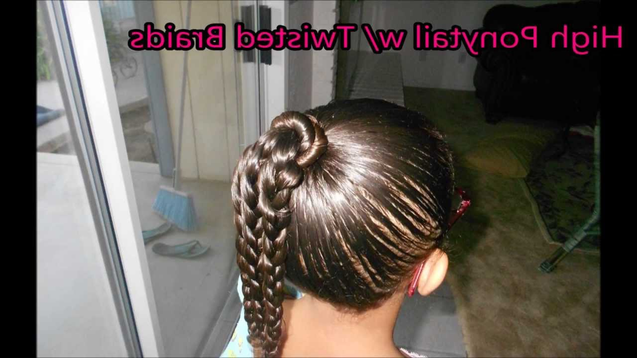 Most Recently Released High Ponytail Braid Hairstyles With Regard To Twisted & Braided High Ponytail! Mixed Race Hairstyles (View 15 of 20)