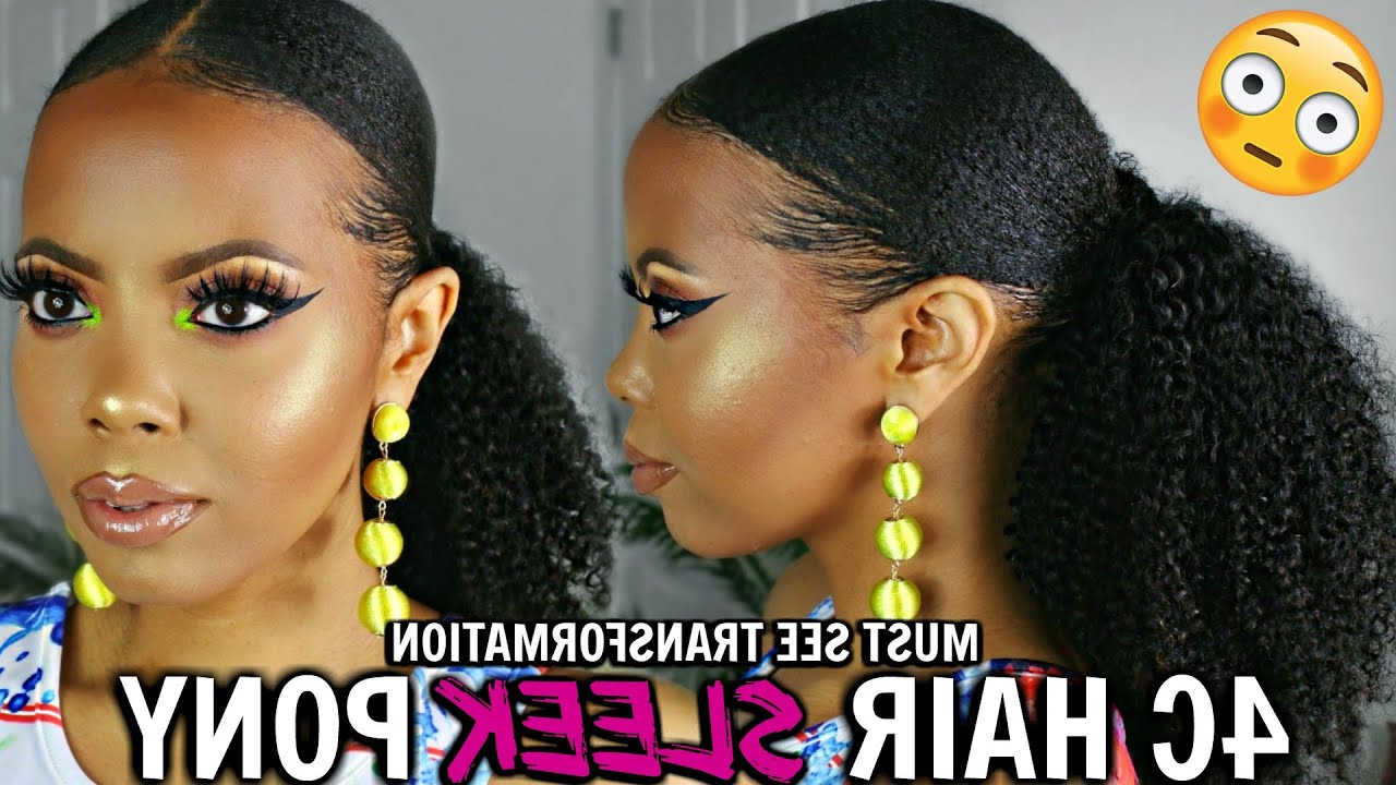 Most Recently Released Slicking Down Braids Hairstyles In 4c Natural Hair Ponytail How To Slick Down 4c Hair Fast (View 12 of 20)
