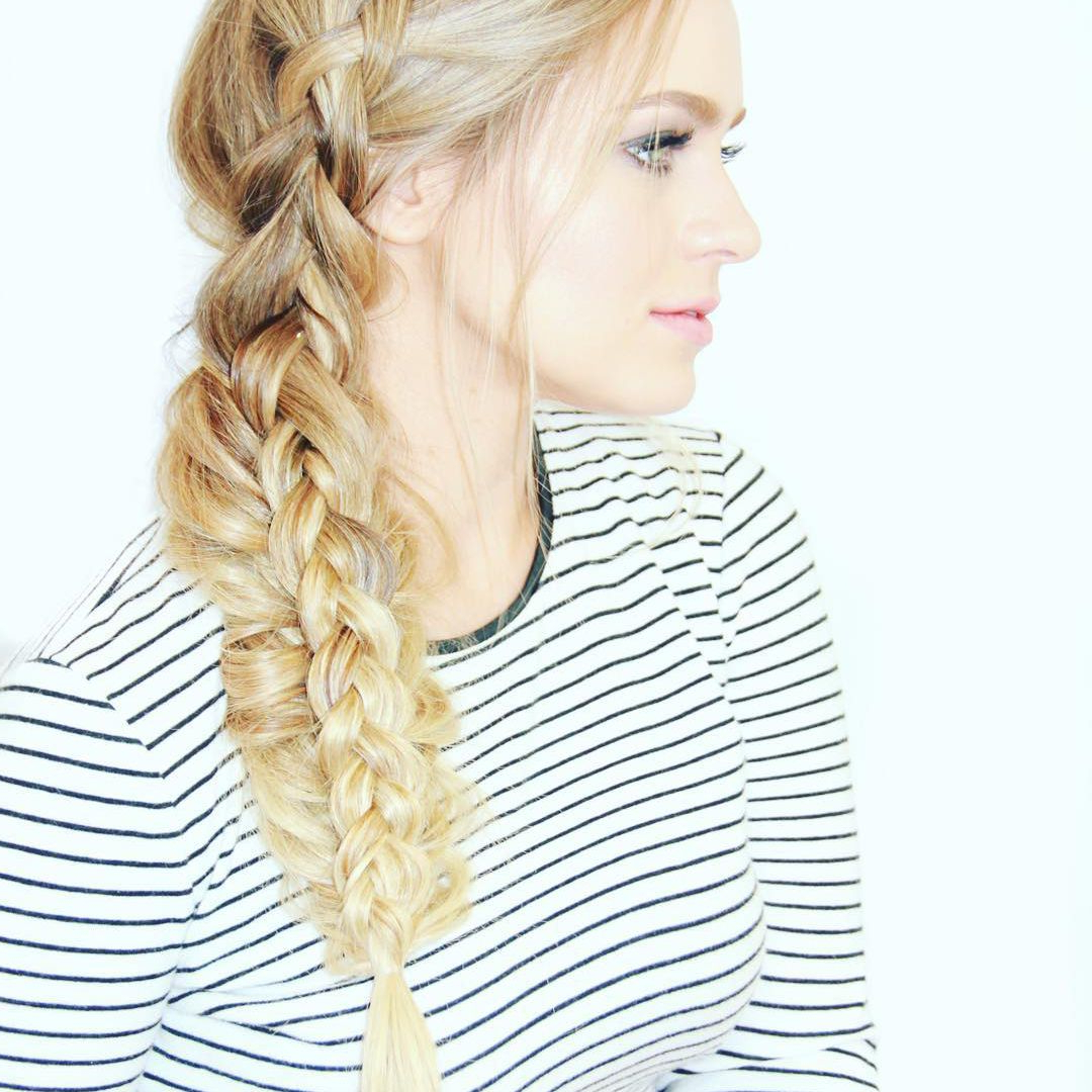 Most Recently Released Three Strand Long Side Braid Hairstyles Pertaining To 50 Braided Wedding Hairstyles We Love (View 15 of 20)