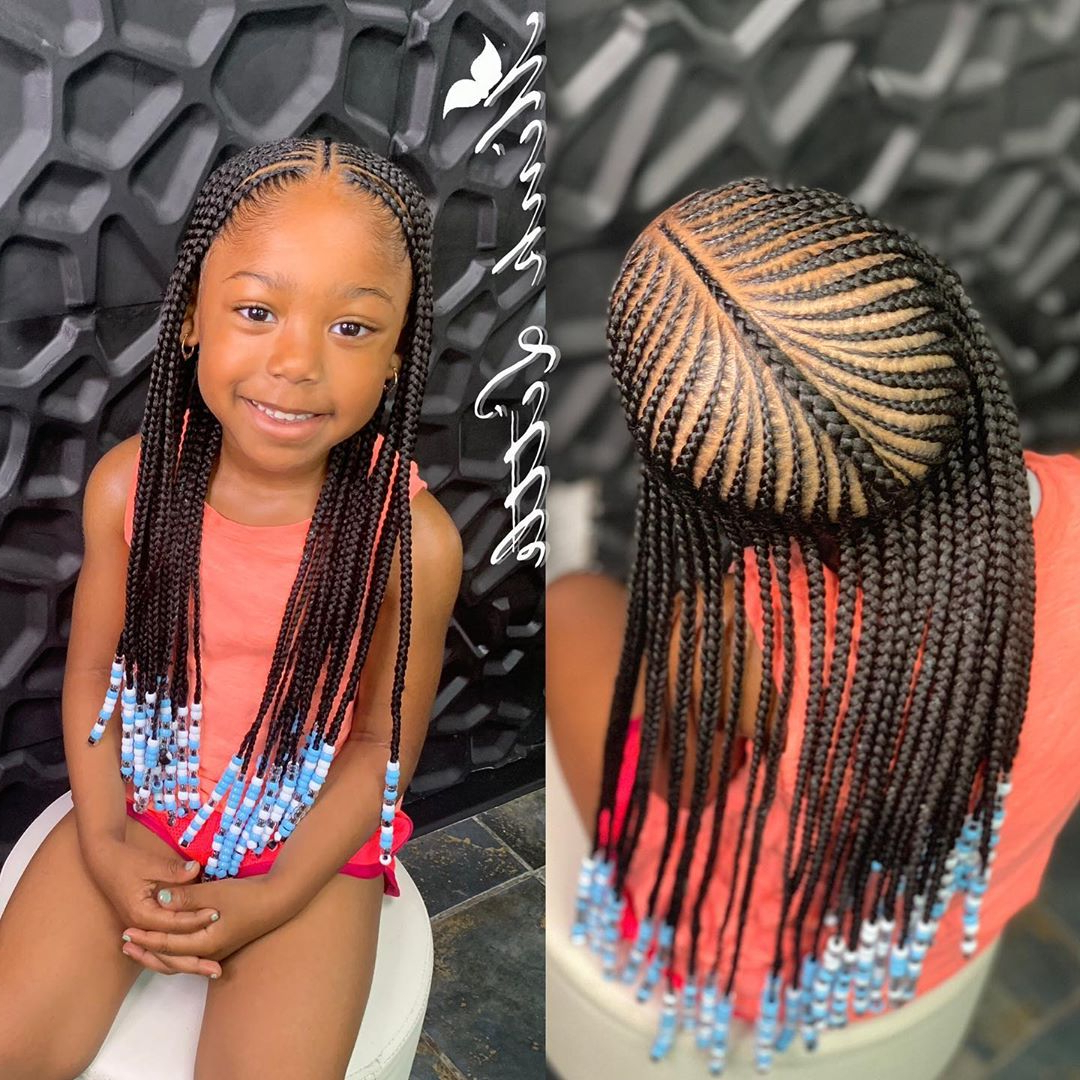Most Up To Date Beaded Braids Hairstyles For 50 Kids Braids With Beads Hairstyles (View 13 of 20)