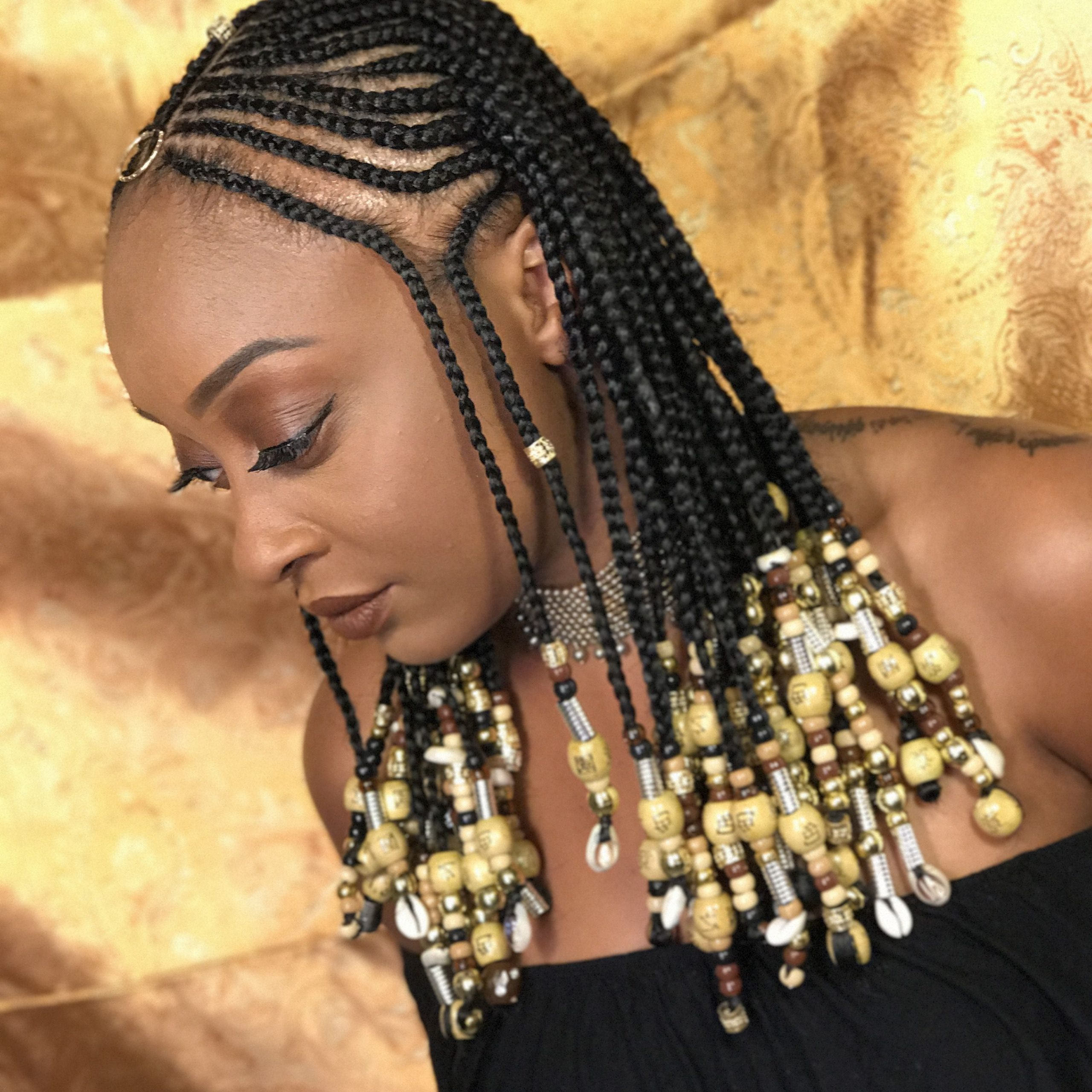 Featured Photo of Beaded Braids Hairstyles