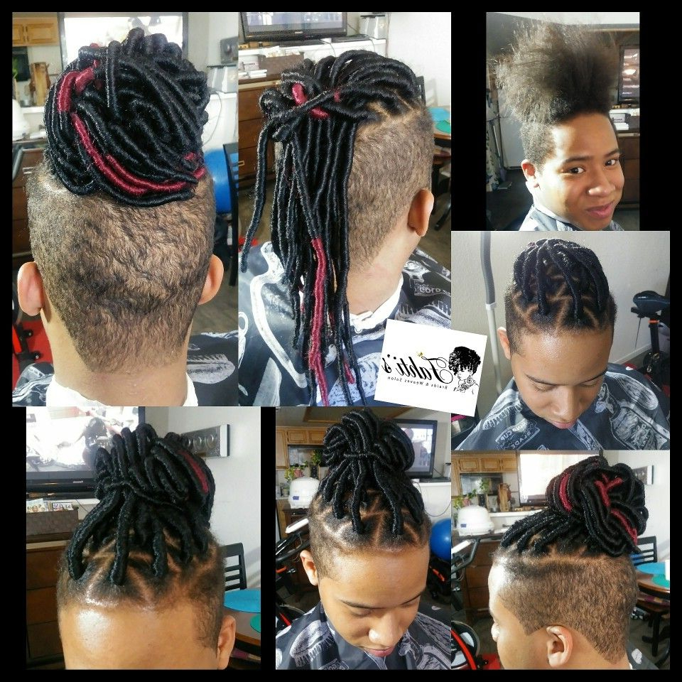 Most Up To Date Faux Undercut Braid Hairstyles Within Faux Locs With Undercut, Man Bun, Braidsfahtis Braids (View 12 of 20)