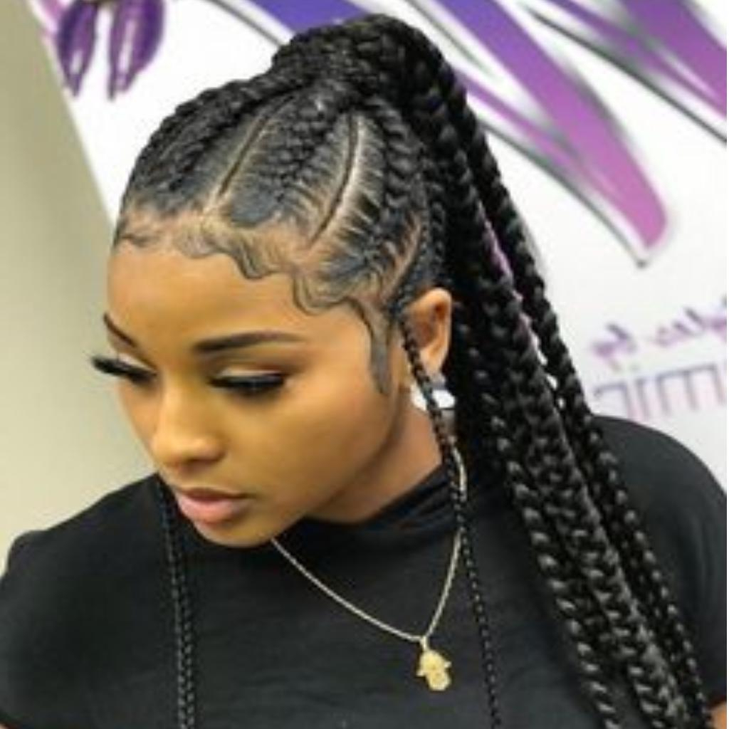 Most Up To Date Ponytail Braid Hairstyles Within Braids Ponytail Hairstyles For Android – Apk Download (View 17 of 20)