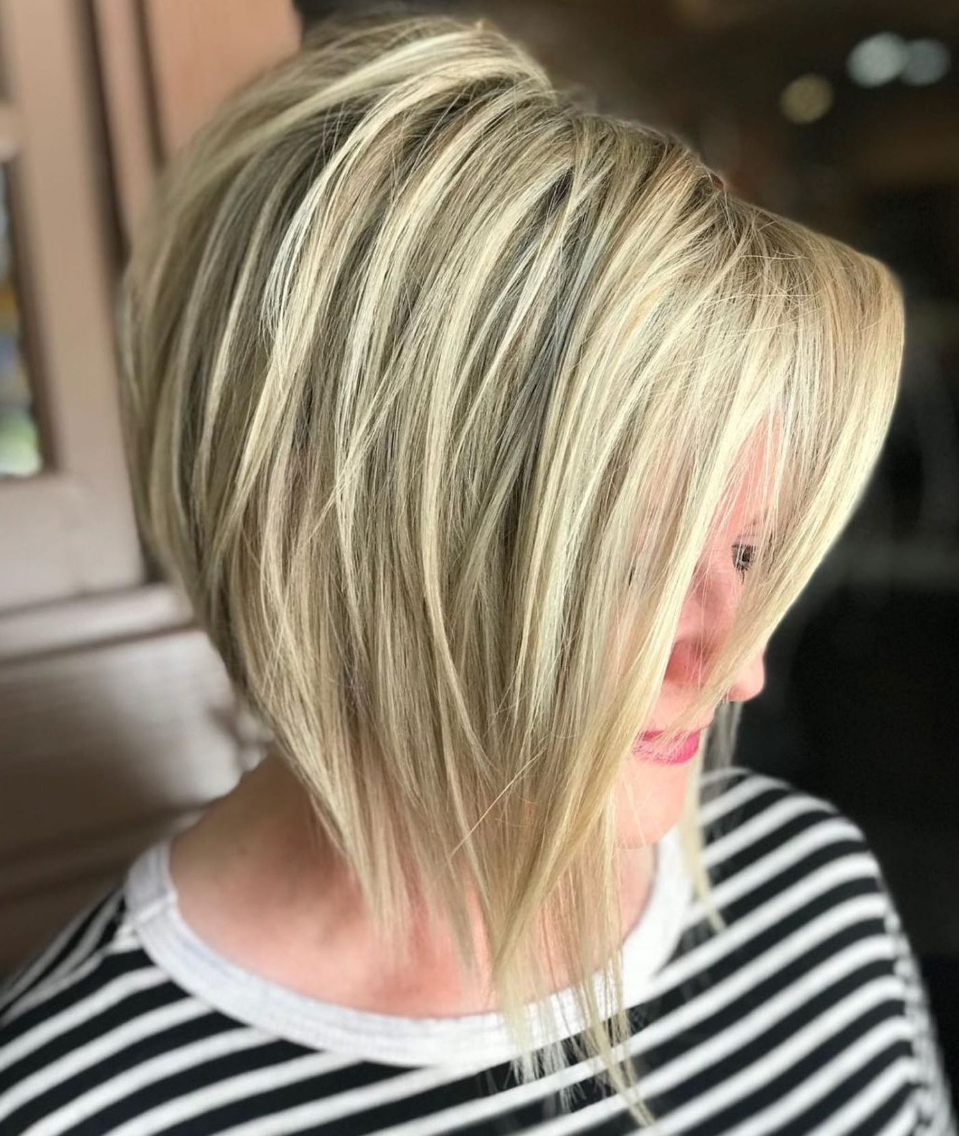 Most Up To Date Sassy Angled Blonde Bob Hairstyles Intended For Pin On Haircuts (View 10 of 20)
