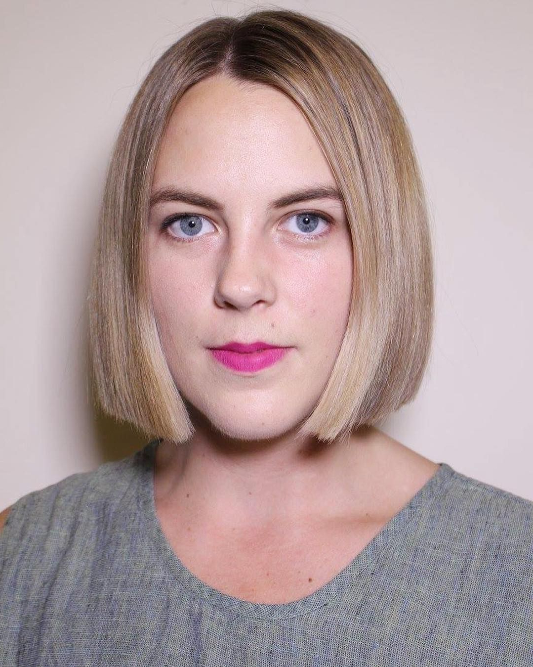 Most Up To Date Sleek Blunt Bob Hairstyles In This Sleek Blunt Bob With Blonde Color And Subtle Highlights (View 15 of 20)