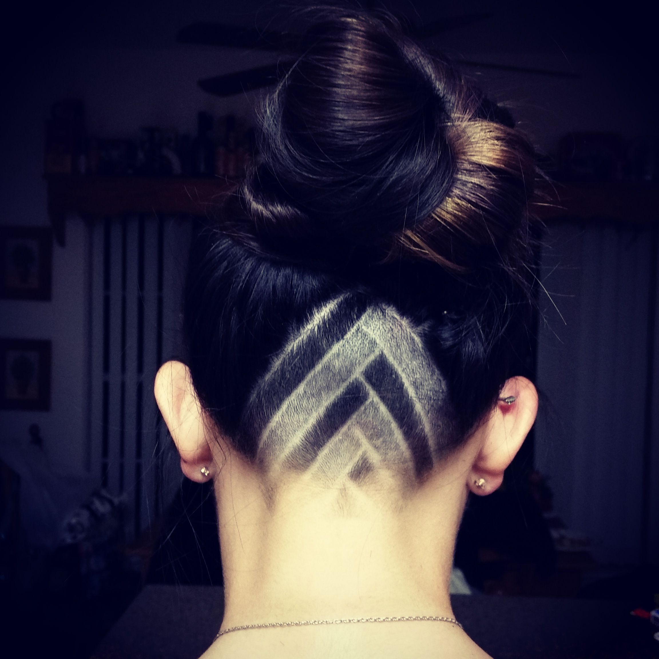 My Favorite Triangle Undercut Design I've Tried So Far Pertaining To Most Current Shaved Undercuts (View 14 of 20)