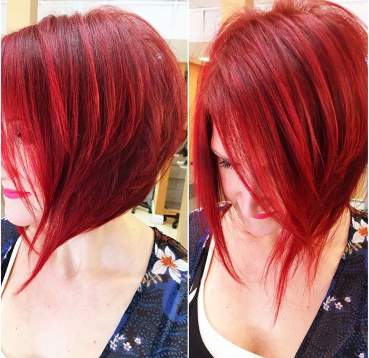 Featured Photo of Bright Red Bob Hairstyles