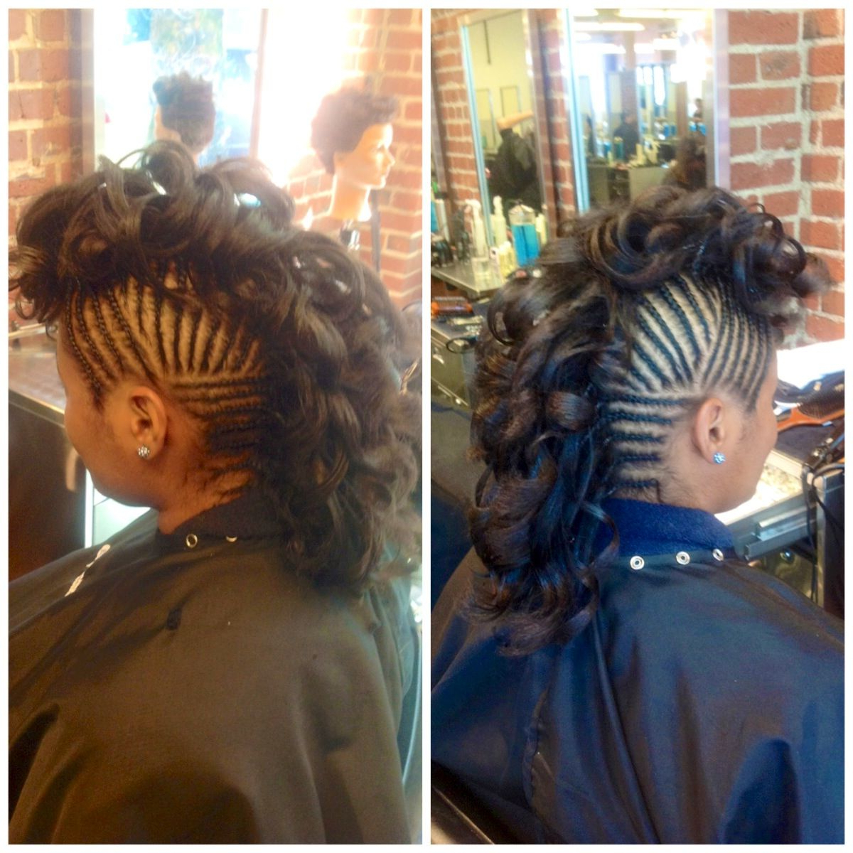 Natural Hair Curly Hair Mohawk Curly Mohawk Braids Design With Regard To Most Recent Braided Frohawk Hairstyles (View 13 of 20)