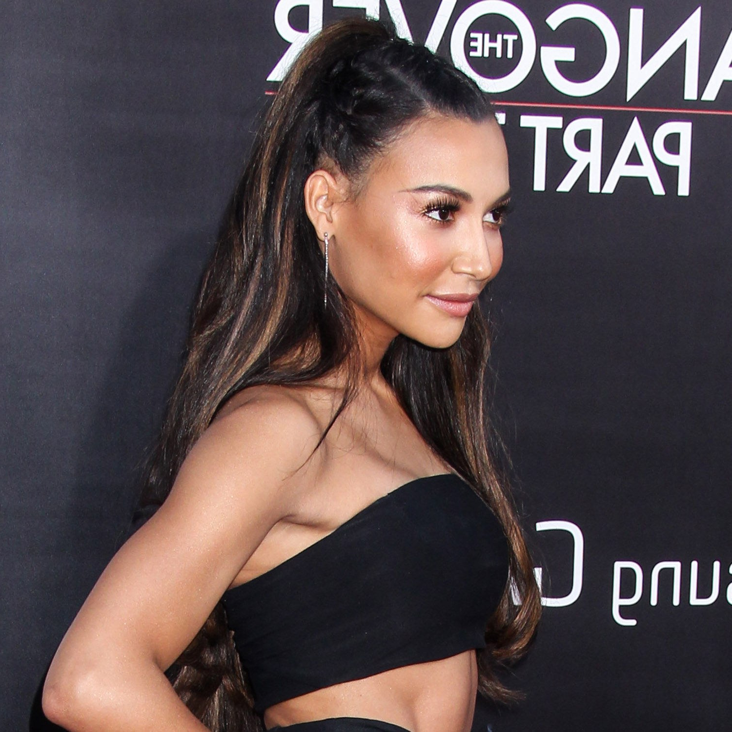 Naya Rivera's Half Up Braided Hairstyle Is The Perfect Combo Pertaining To Well Known Half Braided Hairstyles (View 14 of 20)