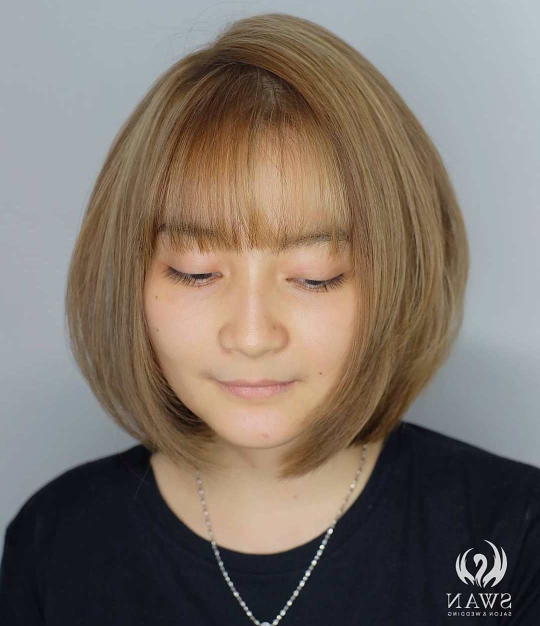 Newest Bob Hairstyles For A Chubby Face Throughout 40 Classy Hairstyles For Round Faces To Choose In (View 17 of 20)