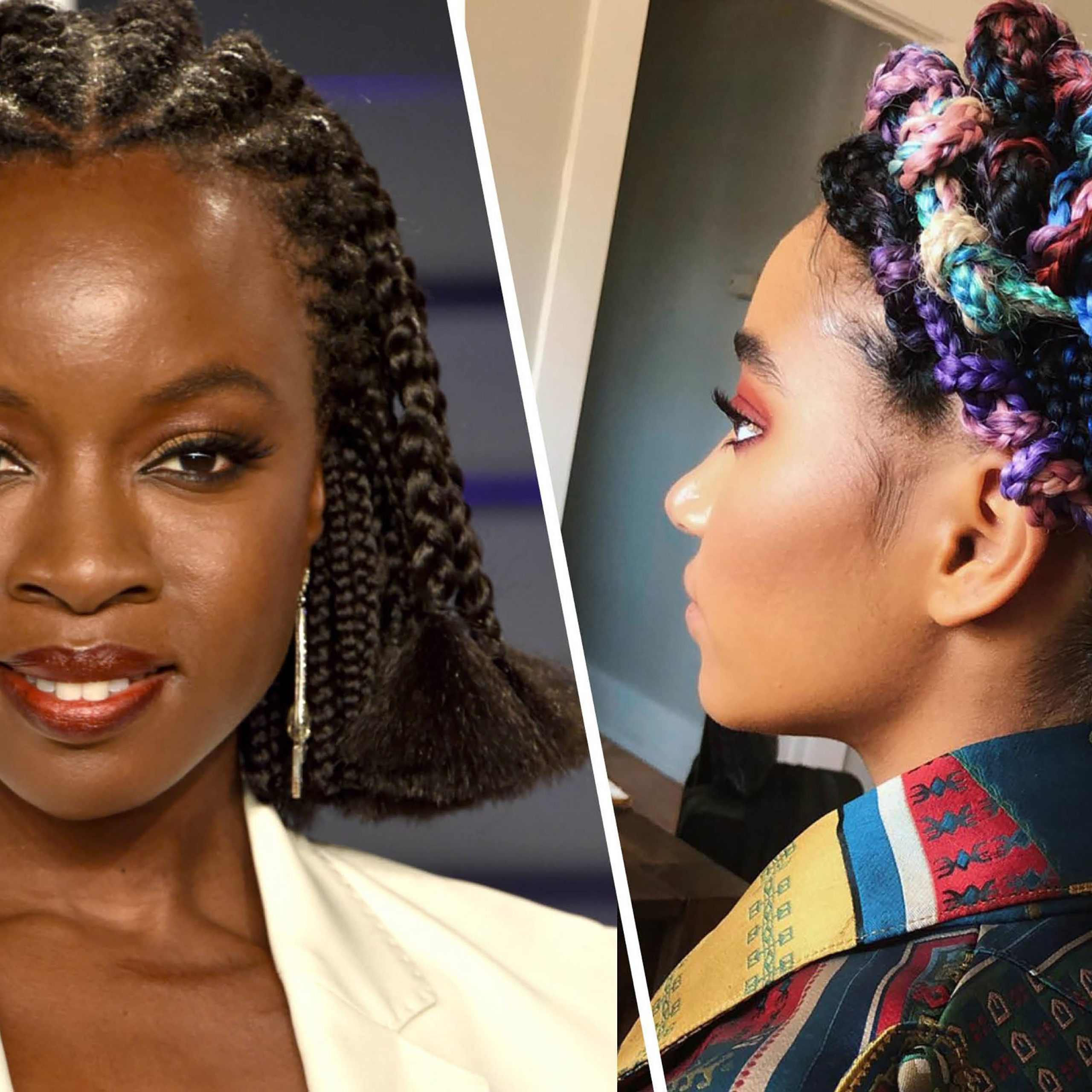 Newest Modern Braided Top Knot Hairstyles Pertaining To 21 Dope Box Braids Hairstyles To Try (View 15 of 20)