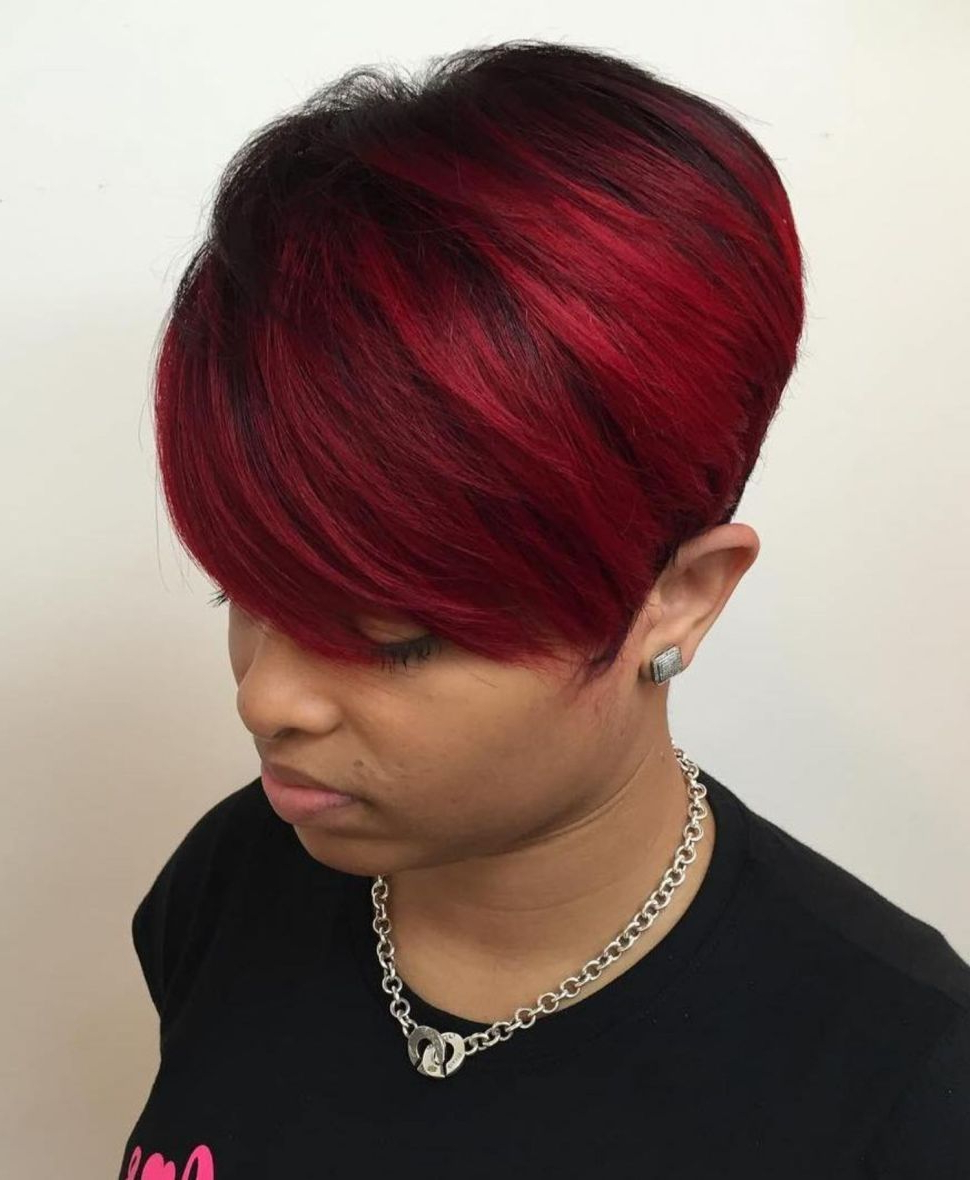 Newest Pageboy Maroon Red Pixie Haircuts Intended For 60 Great Short Hairstyles For Black Women (View 2 of 20)