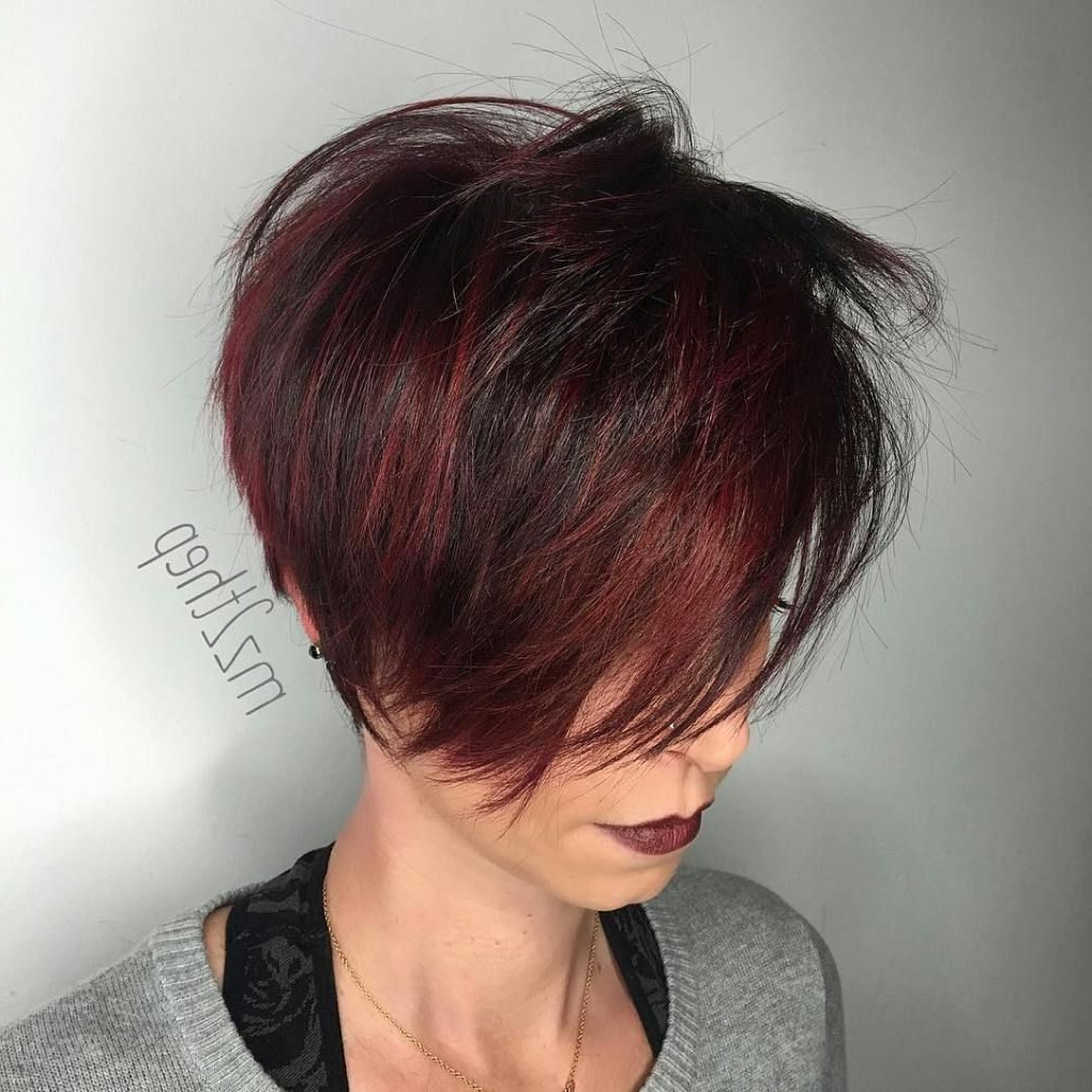 Featured Photo of Pageboy Maroon Red Pixie Haircuts