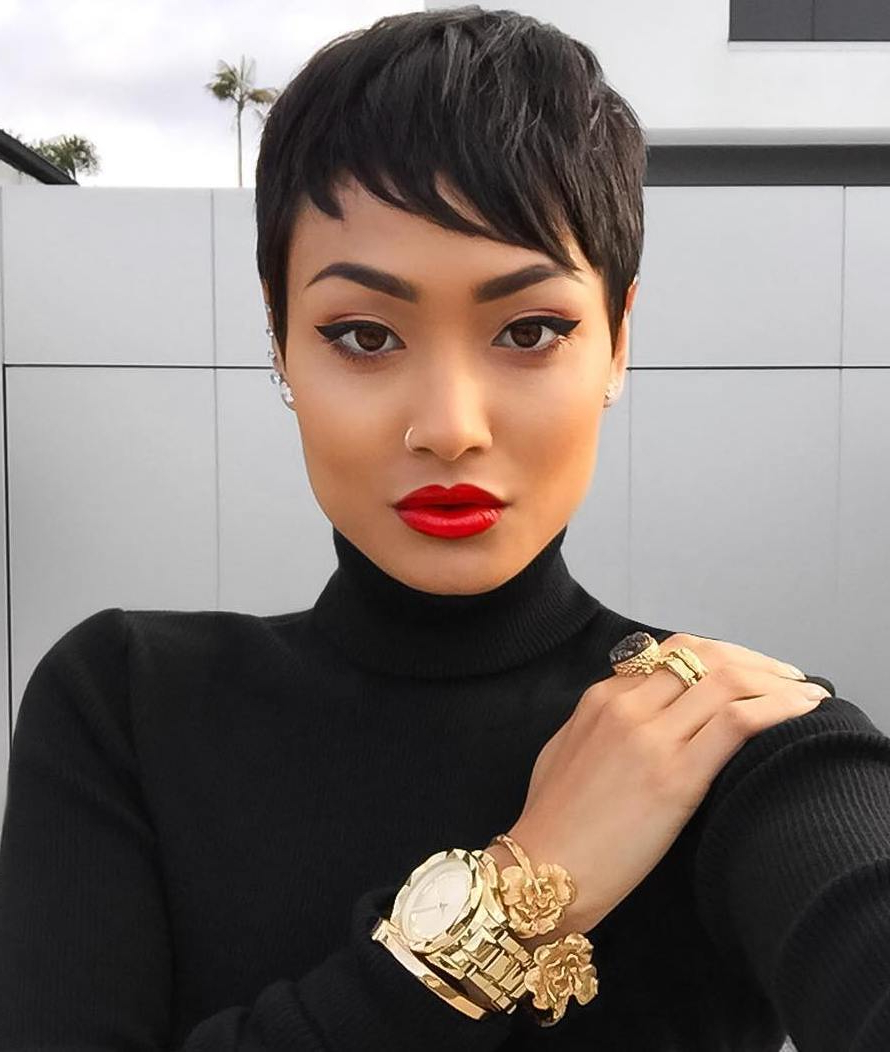 Newest Perfect Pixie Haircuts For Black Women For 55+ Short Natural Haircuts For Black Females With Round (View 13 of 20)
