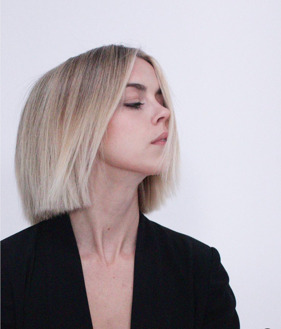Newest Sharp And Blunt Bob Hairstyles With Bangs Throughout Razor Sharp Edges (View 11 of 20)