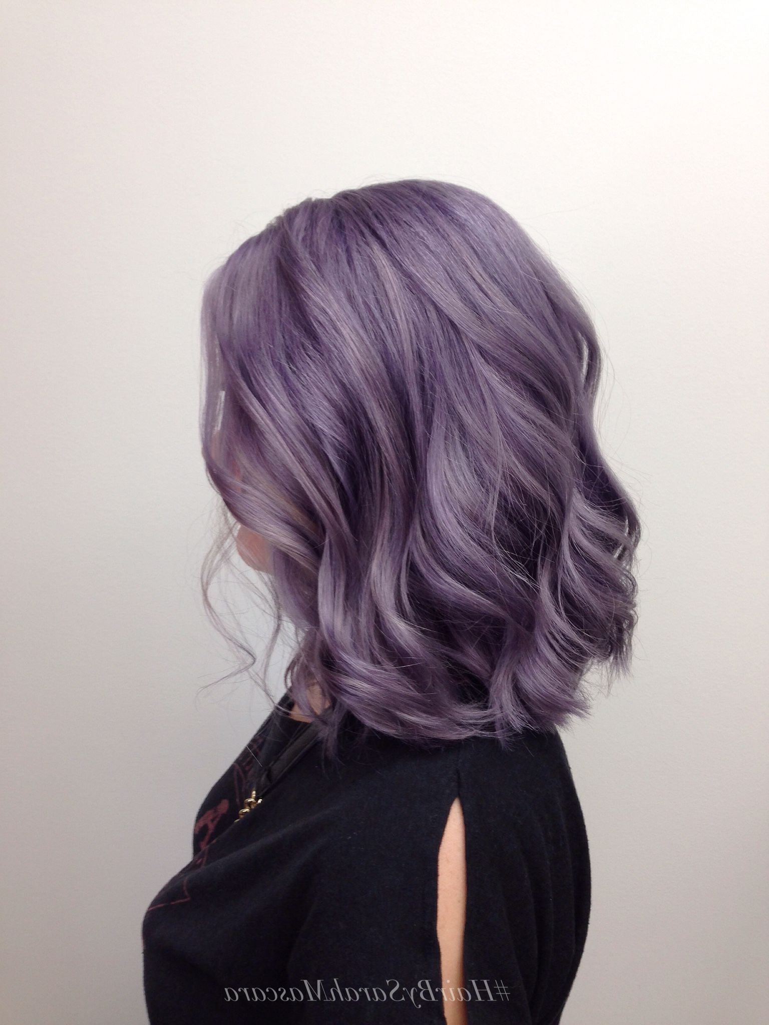 Obsessing Over This Beautiful Smokey Lavender Hair! Who Else With Regard To Well Known Smokey Pastel Colors Pixie Haircuts (View 9 of 20)