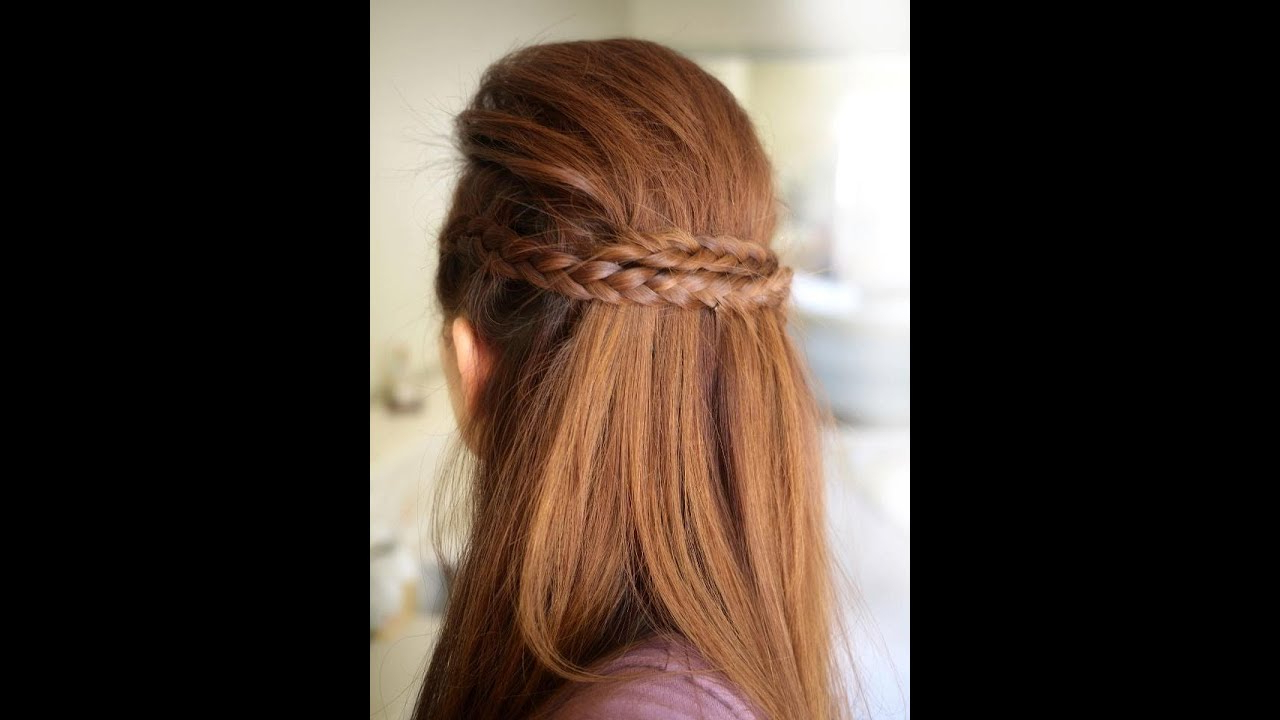 Party Half Braided Hairstyle Tutorial With Recent Half Braided Hairstyles (View 16 of 20)