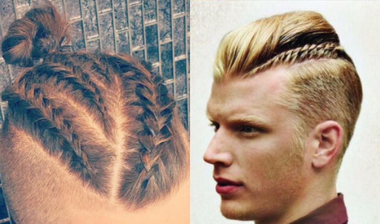 Photos: Move Over Top Knot, The Man Braid Has Arrived / Queerty For Popular Braided Topknot Hairstyles (View 16 of 20)