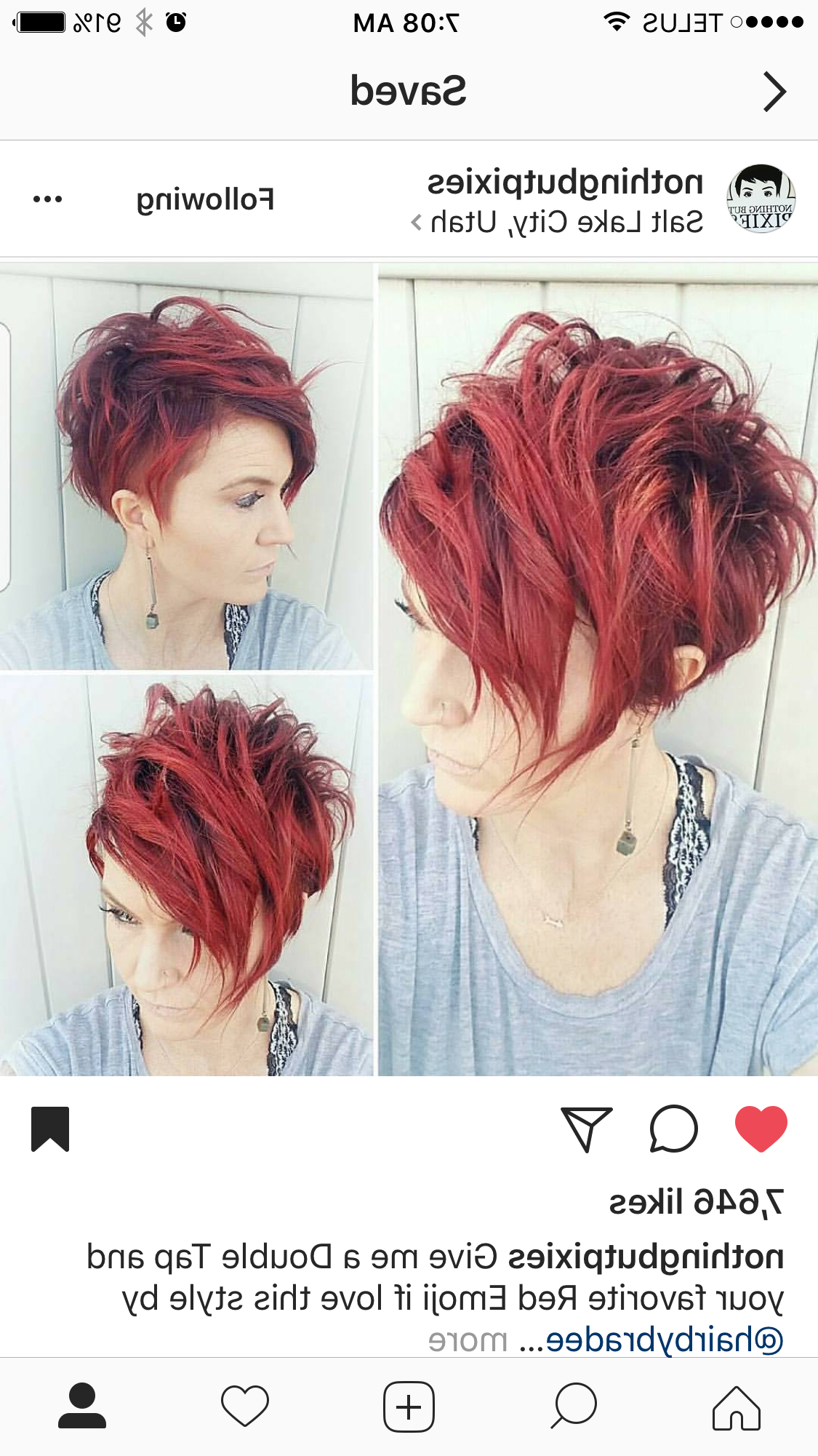 Pin On Hair Intended For Famous Wavy Asymmetrical Pixie Haircuts With Pastel Red (Gallery 4 of 20)