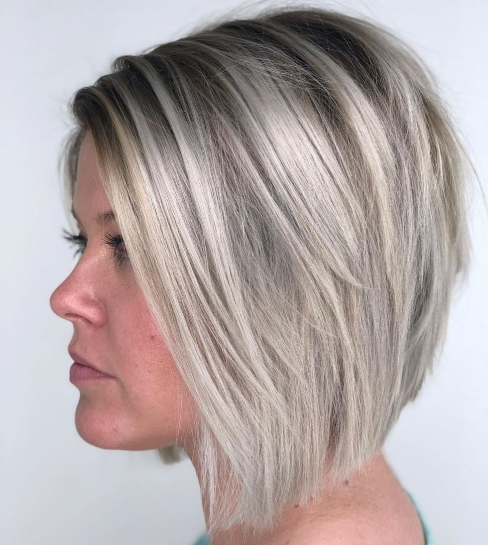 Pin On Hair Pertaining To Famous Sassy Angled Blonde Bob Hairstyles (View 13 of 20)