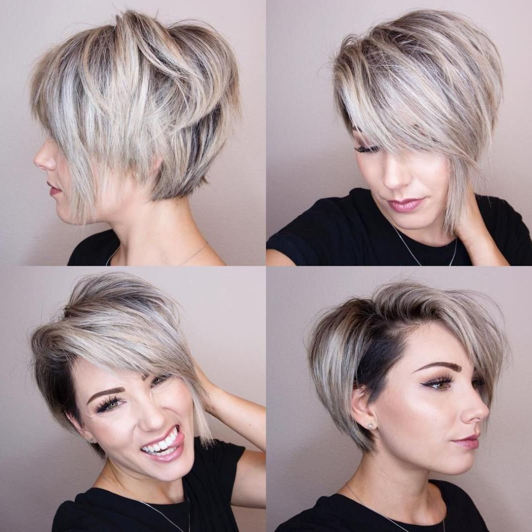 Pin On Hair: Short Hair Don't Care Regarding 2017 Short Choppy Layers Pixie Bob Hairstyles (View 11 of 20)