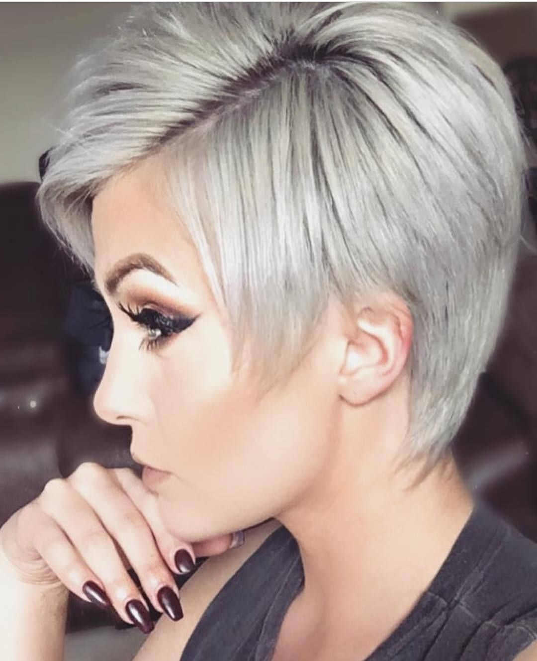 Pin On Hairstyles And Makeup With Regard To 2018 Flipped Up Platinum Blonde Pixie Haircuts (View 16 of 20)
