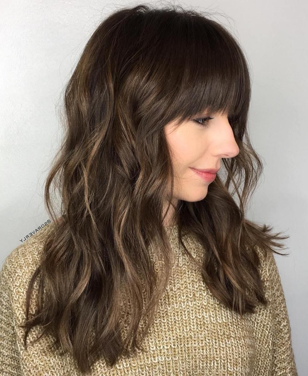 Pin On Hairstyles Within Current Razor Haircuts With Long Bangs (View 6 of 20)