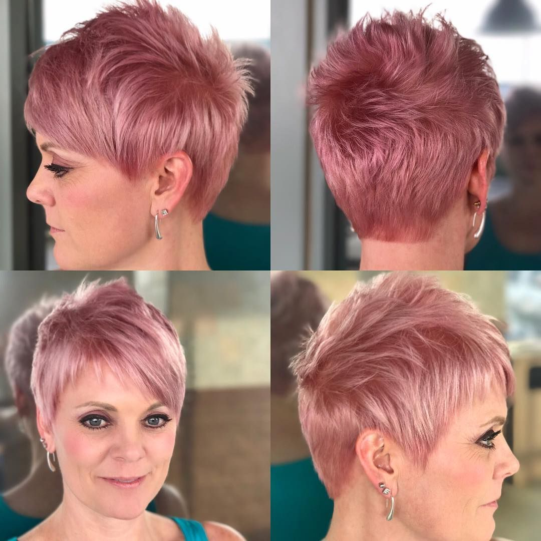 Featured Photo of Wavy Asymmetrical Pixie Haircuts With Pastel Red