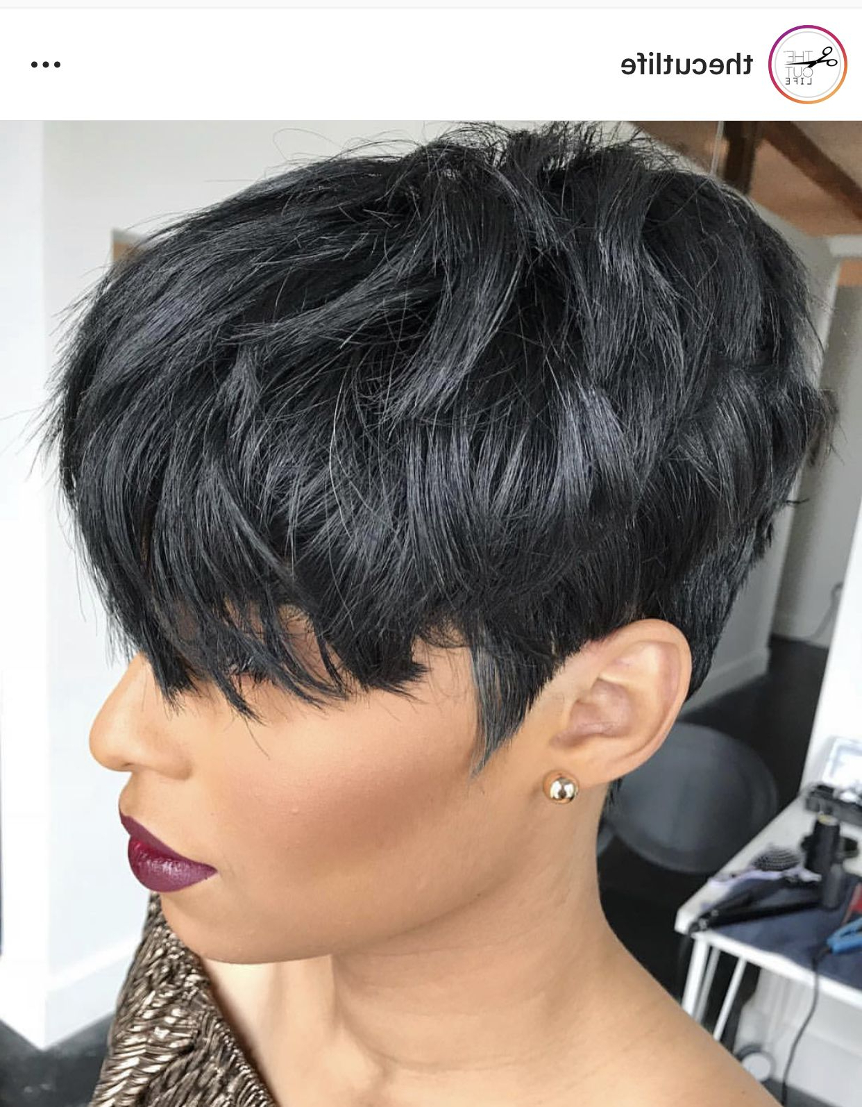 Pin On Short Hair Don't Care Intended For Recent Sassy Short Pixie Haircuts With Bangs (View 11 of 20)